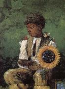 Dedicated to the teacher s sunflower Winslow Homer