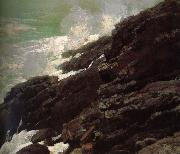 Coastal cliffs Winslow Homer