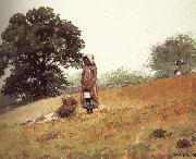 Boys and girls on the hill Winslow Homer