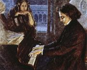 an artist s impression of chopin at the piano composing his preludes oscar wilde