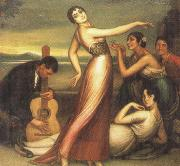 an allegory of happiness by julio romero de torres plato