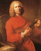 jean philippe rameau with his violin, a famous portrait by joseph aved rameau