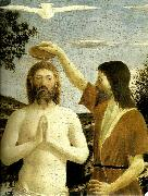 details from the baptism of chist Piero della Francesca