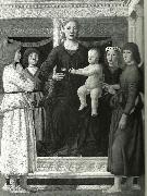 madonna and chold enthroned between four angels Piero della Francesca