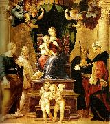 far right madonna del baldacchino Raphael