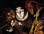 Allegory with a Boy Lighting a Candle in the Company of an Ape and a Fool El Greco