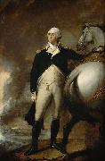 Oil on canvas portrait of George Washington at Dorchester Heights. Gilbert Stuart