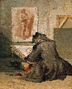 Young Student Drawing Jean Simeon Chardin