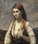 The Young Woman of Albano (L'Albanaise) camille corot