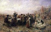 The First Thanksgiving at Plymouth Jennie A. Brownscombe