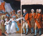 Mather brown lord cornwallis receiving the sons of ipu as hostages Mather Brown