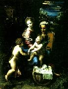 holy family with st john the baptist Raphael