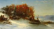 First Snow Along the Hudson River Regis-Francois Gignoux
