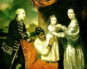 george clive with his family and an indian maidservant Sir Joshua Reynolds