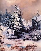 Winter in the Rockies Thomas Moran