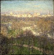 Early Spring Afternoon Central Park Willard Leroy Metcalf