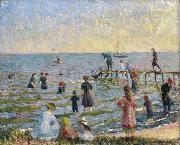Bathing at Bellport, Long Island William Glackens