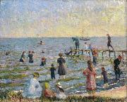 Bathing at Bellport Long Island William Glackens