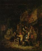 Peasant family at home Adriaen van ostade