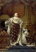 Portrait of Louis XVIII in his coronation robes Baron Antoine-Jean Gros