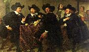 Four aldermen of the Kloveniersdoelen in Amsterdam Bartholomeus van der Helst