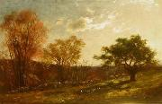 Landscape Study, Melrose, Massachusetts, oil painting by Charles Furneaux Charles Furneaux