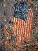 Flags on the Waldorf Childe Hassam