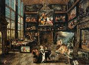 Interior of a Collectors Gallery of Paintings and Objets dArt Cornelis de Baellieur