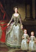 Portrait of Anna Charlotte Dorothea von Medem with daughters Wilhelmine and Pauline German Hilaire Edgar
