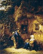 Traveller at a Cottage Door Isaac van Ostade