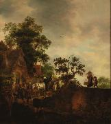 Travellers Halting at an Inn Isaac van Ostade