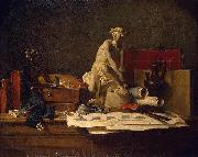 Still Life with Attributes of the Arts Jean Simeon Chardin
