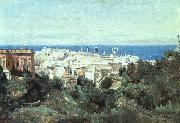 View of Genoa camille corot