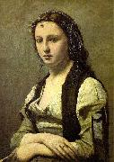 The Woman with a Pearl camille corot