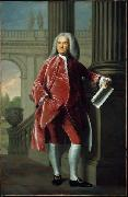 Portrait of Nathaniel Sparhawk od Kittery Point John Singleton Copley