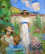 Three Girls in a Garden Lebasque, Henri