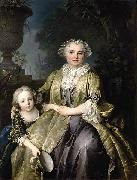 and Her Daughter Louis Tocque
