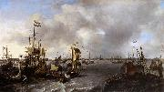 View of Amsterdam with Ships on the Ij Ludolf Bakhuizen