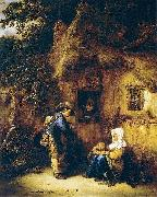 Traveller at a Cottage Door OSTADE, Isaack van