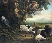 Birds of Prey, Goats and a Wolf, in a Landscape Philip Reinagle
