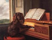 Portrait of an Extraordinary Musical Dog Philip Reinagle