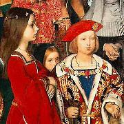 Erasmus of Rotterdam visiting the children of Henry VII at Eltham Palace in 1499 and presenting Prince Henry with a written tribute. Richard Burchett