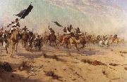 Flight of the Khalifa after his defeat at the battle of Omdurman Robert Talbot Kelly