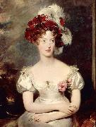 Portrait of Princess Caroline Ferdinande of Bourbon-Two Sicilies Duchess of Berry. Sir Thomas Lawrence