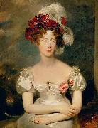 Portrait of Princess Caroline Ferdinande of Bourbon Sir Thomas Lawrence