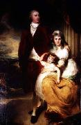 Portrait of Henry Cecil, 1st Marquess of Exeter (1754-1804) with his wife Sarah, and their daughter, Lady Sophia Cecil Sir Thomas Lawrence