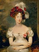 Portrait of Princess Caroline Ferdinande of Bourbon-Two Sicilies, Duchess of Berry. Sir Thomas Lawrence