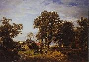 Landscape with farm Theodore Fourmois