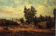Landscape with farms Theodore Fourmois
