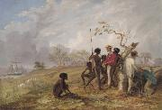 Thomas Baines with Aborigines near the mouth of the Victoria River Thomas Baines